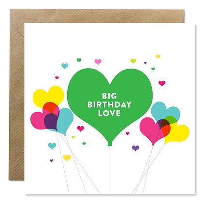 Card -  BIG BIRTHDAY LOVE