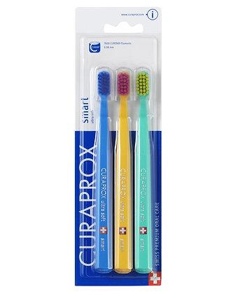 Curaprox 7600 Smart Ultrasoft Toothbrush Triple Pack