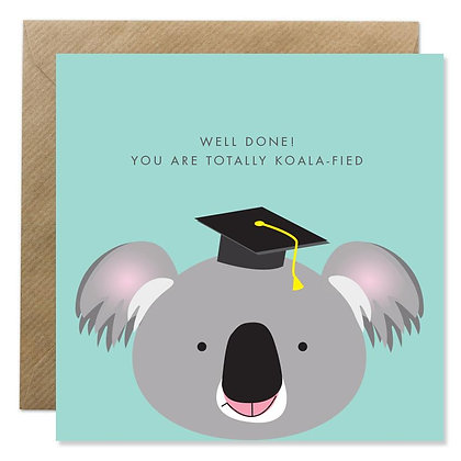 Card - WELL DONE YOU ARE KOALA-FIED