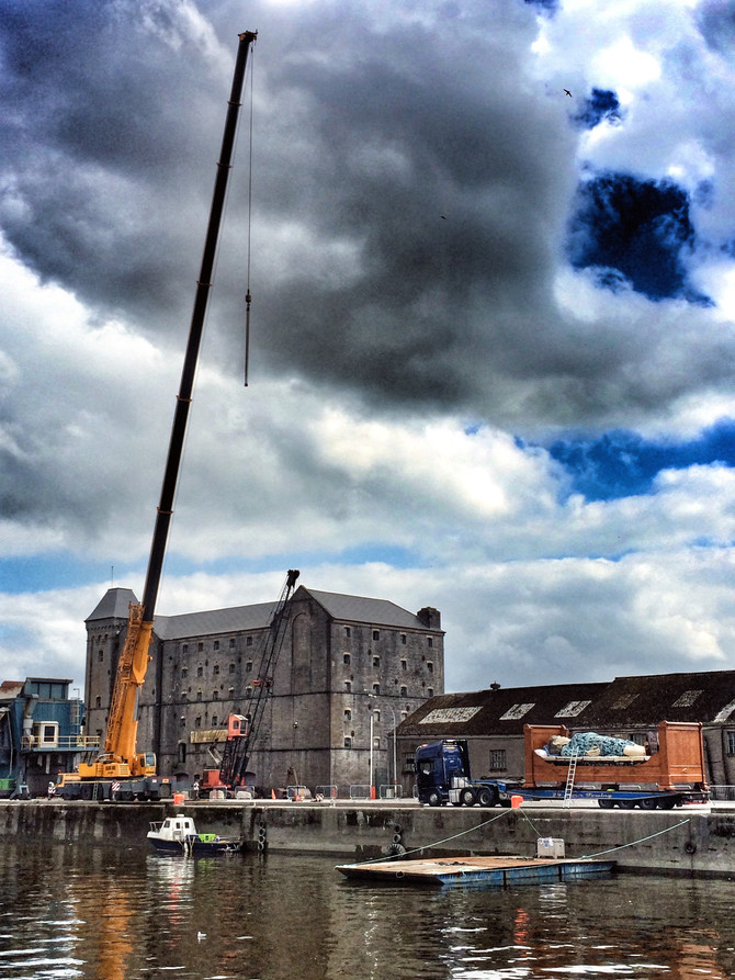 Granny has a rest in Limerick Dock