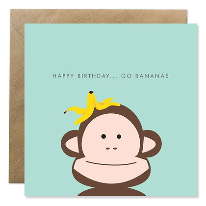 Card - HAPPY BIRTHDAY ...GO BANANAS