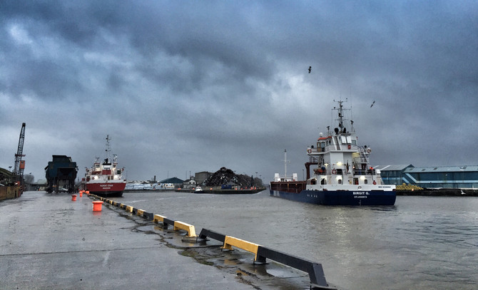 MV Birgit G - Departing Limerick