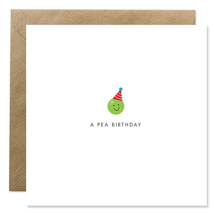 Card - A PEA BIRTHDAY
