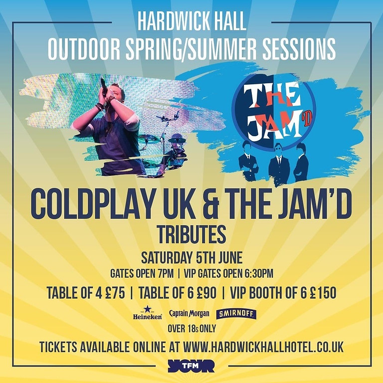 Coldplay UK & The Jam'd Tributes Live