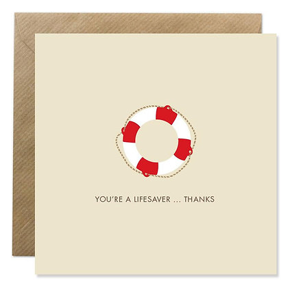 Card -  YOU'RE A LIFESAVER
