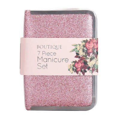 Boutique 7 Piece Glitter Manicure Set - Pink