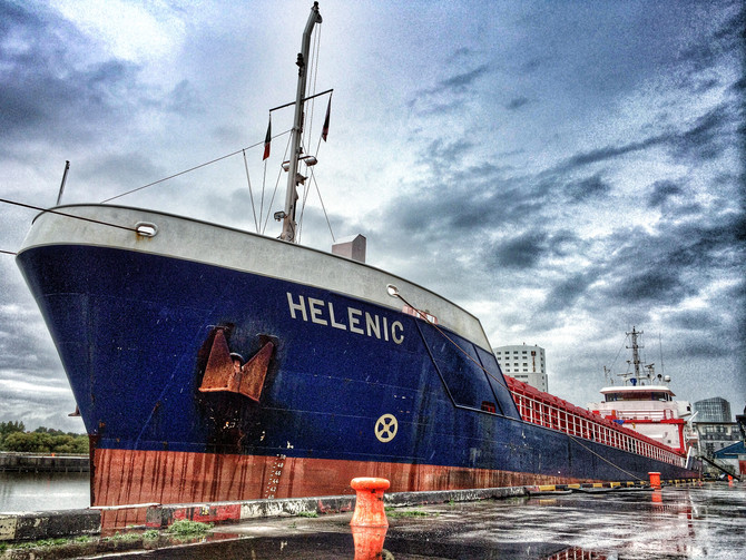 Mv Helenic arrives in Limerick for a cargo of cement