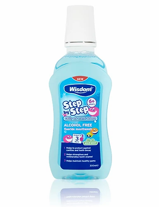Step by Step 6+ years Cavity & Enamel defence fluoride mouthwash 300ml