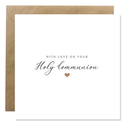 Card -  HOLY COMMUNION