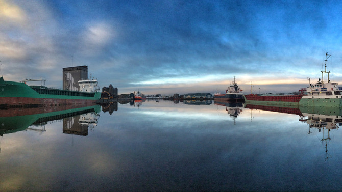 Crisp Morning In Busy Limerick Dock