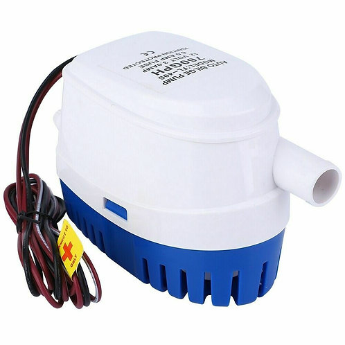 DC 12V 760GPH Boat Marine Automatic Submersible Auto Bilge Water Pump 19mm Pipe