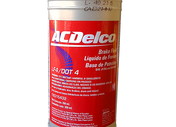 Liquido de frenos ACDelco DOT 4 350ml