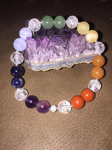 Bracelet aux couleurs des Chakras