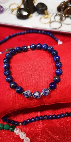 Bracelet unique Lapis-Lazuli et Sodalite