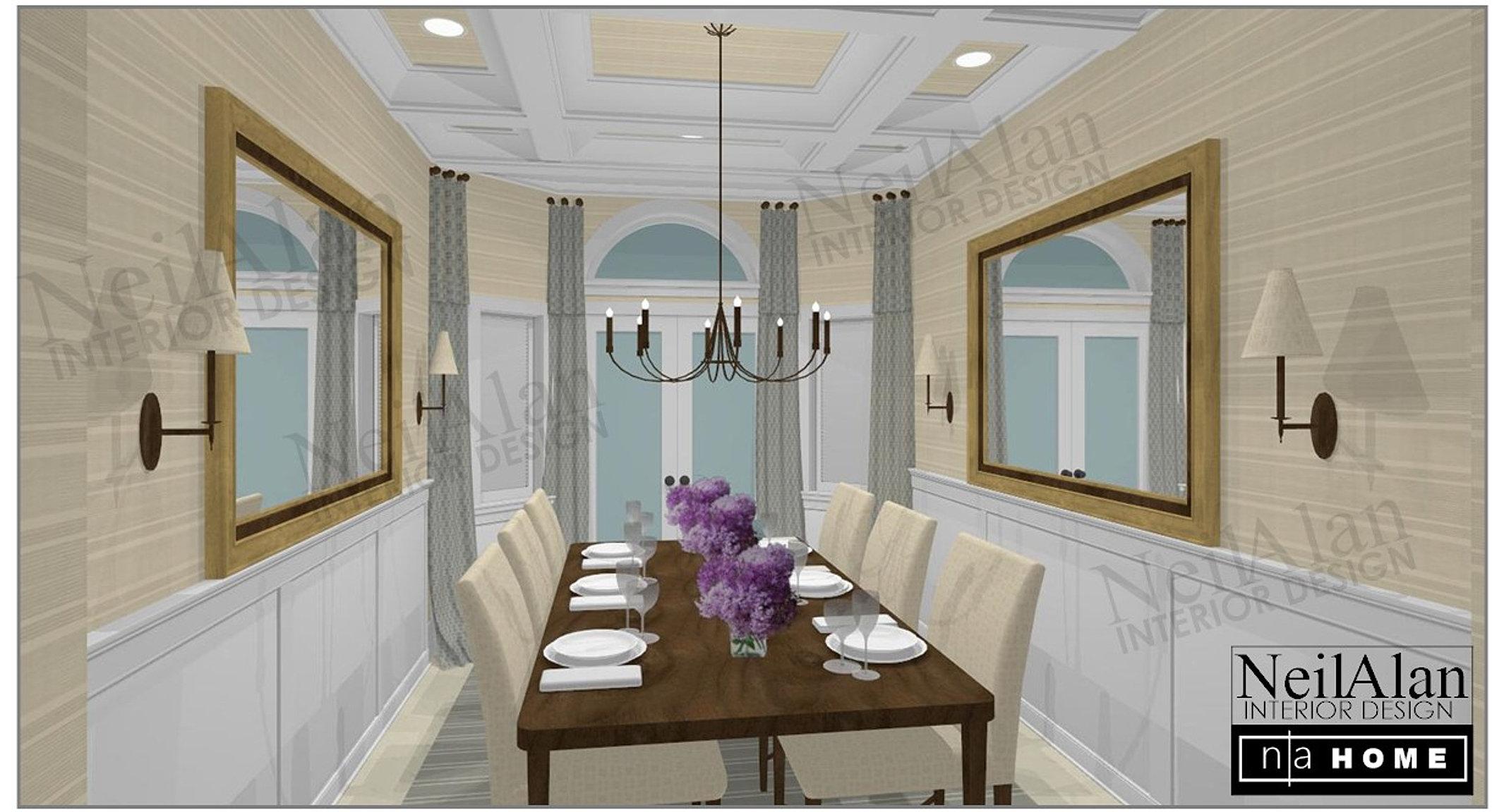 Neil Alan Designs   San Diego Interior Design Calle Dining Room B