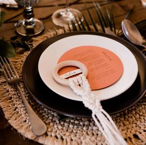 Menú de boda y marcasitio