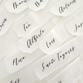 nombres invitados en tela