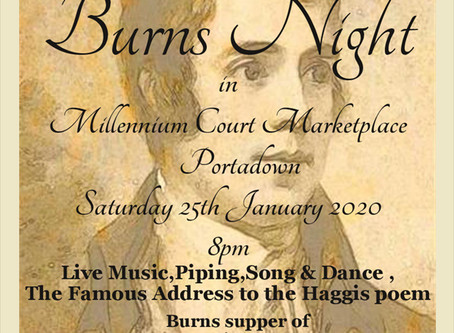 Burns Night Saturday 25th January 2020