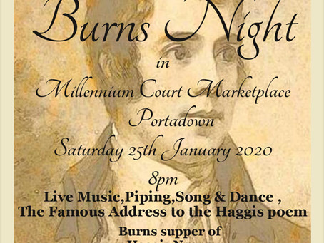 Burns Night Saturday 25th January 2020