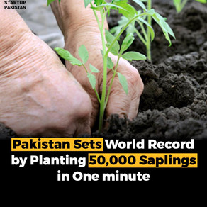Pakistan sets  World Record by Planting 50,000 Saplings in One minute