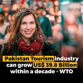 Pakistan Tourism industry can grow US$ 39.8 Billion within a decade- WTO