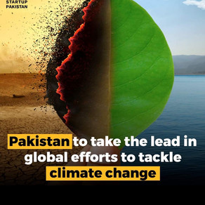 Paksitan to take the lead in global efforts to tackle climate change