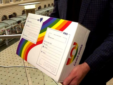 Czech Post Will Color its Logo and Packages in Support of Prague Pride