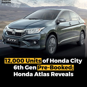 Pre-orders for the 6th Generation Honda City totaled 12,000 units.