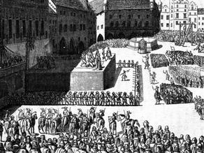 Die Hinrichtung der Protestantenführer 1621 in Prag