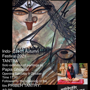 Indo Czech Autumn Durga Puja Festival 2021 starts with solo exhibition TANTRA by Papia Ghoshal