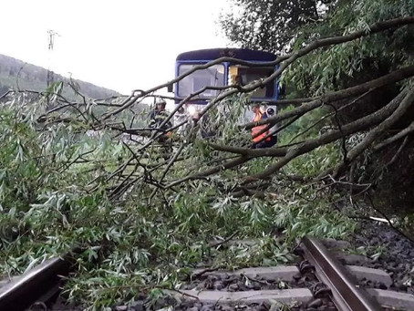 Storms Raged In Moravia, Firefighters Evacuated Train
