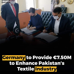 Germany to Provide Euro 7,500,000 to Enhance Pakistan's Textile Industry