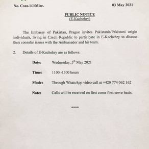 Pakistan Embassy Czech Republic