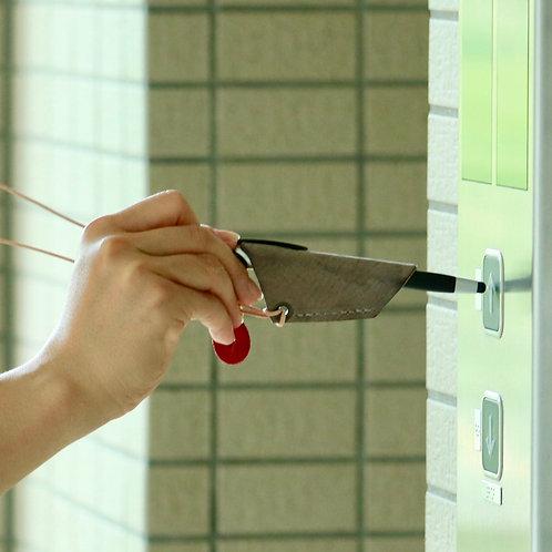 新しい生活様式への提案!!本革首かけタッチペンホルダー(タッチペン付き)