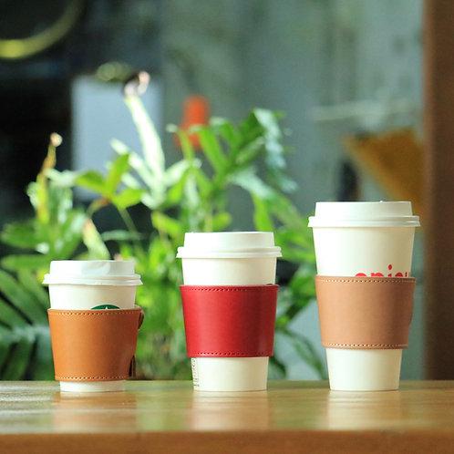 レザーコーヒースリーブ <無料イニシャル刻印付き>(収納ケース付き)