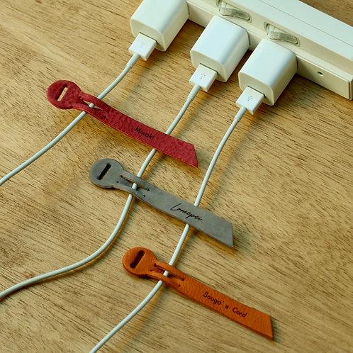 充電器の目印に!ネーム入りケーブルタグ(3個セット)