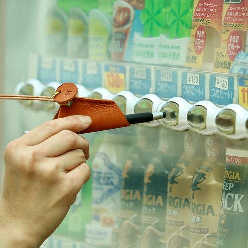 【お得な10個セット】新しい生活様式への提案!!本革首かけタッチペンホルダー(タッチペン付き)