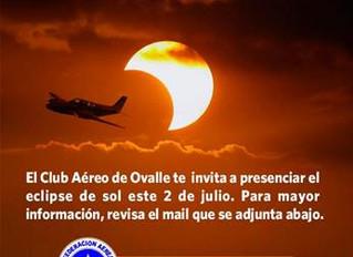 Club Aéreo de Ovalle te invita a ver el eclipse de sol