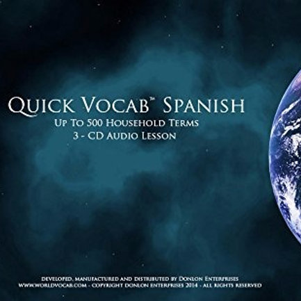 Quick Vocab™ Spanish: Household - CD Pack
