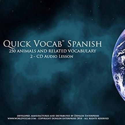 Quick Vocab™ Spanish: Animals - CD Pack