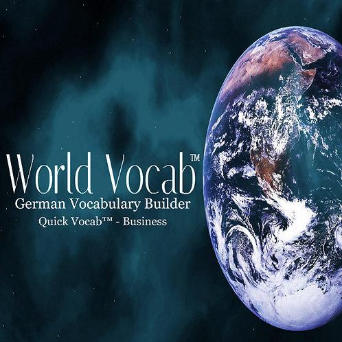 Quick Vocab™ German: Business - CD Pack