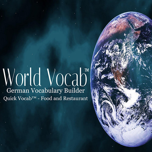 Quick Vocab™ German: Food and Restaurant - CD Pack
