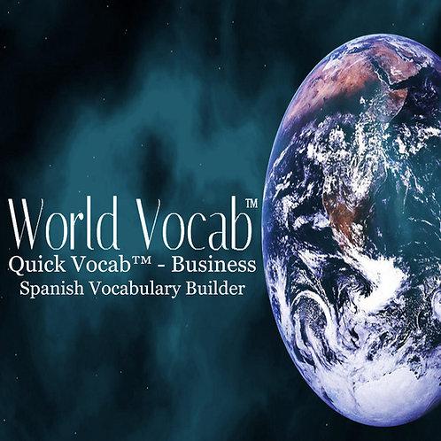 Quick Vocab™ Spanish: Business