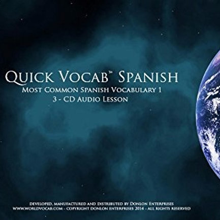 Quick Vocab™ Spanish: Common Vocabulary I - CD Pack