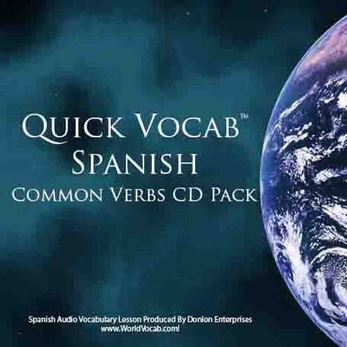 Quick Vocab™ Spanish: Common Verbs - CD Pack