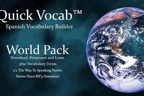 World Vocab™ Spanish - World Pack