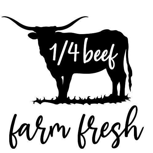 Grass Fed Beef, Custom 1/4