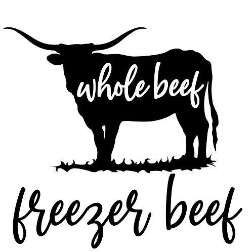 Grass Fed Beef, Custom Whole