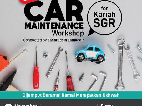 Basic Car Maintenance Workshop oleh Hj Zaharuddin Zainuddin, 2 Nov 2019