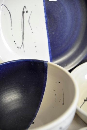 "Keramik ""blau-weiß"""